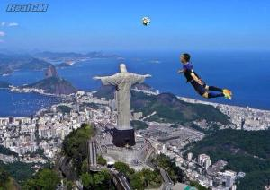 The Flying Dutchman sails past the Christ the Redeemer statue...