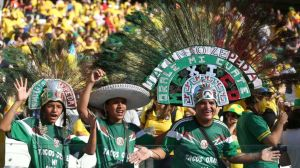 Mexican fans expressing their culture - a little excessive but who cares.