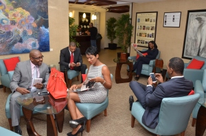 Hanging out in Club Kingston at Norman Manley International Airport. (Photo: VIP Attractions)
