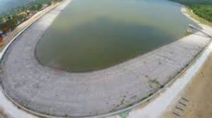 This photo of Mona Reservoir was taken by the Gleaner on July 3. The water level is lower now.