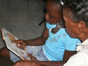 A reading session in Granville, St. James.