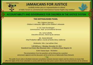 "One of the many public education seminars organized by JFJ - this one on ""Accountability and Governance for Children in the Justice System."""