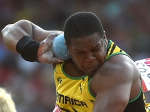 Jamaican shot putter O'Dayne Richards at the Commonwealth Games in Glasgow. (Photo: Ricardo Makyn/Gleaner)