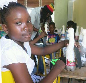 These recycled plastic bottles become...