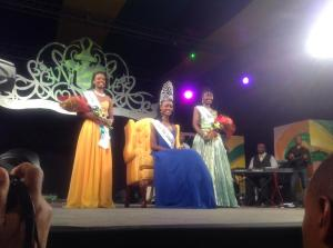 Miss Jamaica Festival Queen and her runners-up.  The competition is much more culturally significant than the regular beauty pageants, I think.