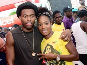 Daniel Sturridge with a young fan at the launch of his charity foundation in Jamaica in June, 2013. (Photo: Gleaner)