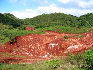 Land destroyed by bauxite mining in St. Ann. (Photo: Wendy Lee)