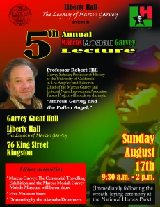I am sorry that I missed today's Marcus Garvey Lecture by Professor Robert Hill.