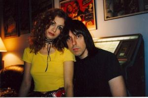 Two-thirds of a triangle: Johnny and Linda Ramone.