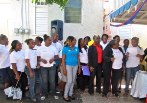 Eve for Life staff, volunteers, mentor moms and supporters at the soft launch of Nuh Guh Deh. (My photo)