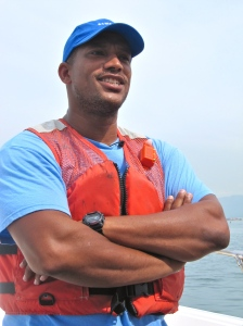JET's Conservation Director Llewelyn Meggs was one of our experts on board the boat. (My photo)