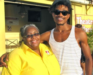 A star supporter: Musician, actor and leader of the Nomaddz band Sheldon