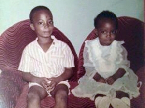 "Mario Deane as a little boy with his sister Sadiki, who says: ""I feel as though half of my heart has been removed and I am walking around half-empty."" (Photo: Gleaner)"