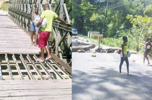 The bridge in Retreat, St. Mary. Surely this wouldn't cost so much to fix? (Photo: Jamaica Observer)