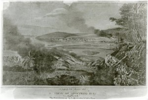 Adolphe Duperly print: A View of Montego Bay, this print shows slaves destroying sections of Montego Bay during the 1831 slave rebellion. This is posted on the National Library of Jamaica website. I urge you to visit the NLJ and browse its website. It contains many historical gems: http://www.nlj.gov.jm