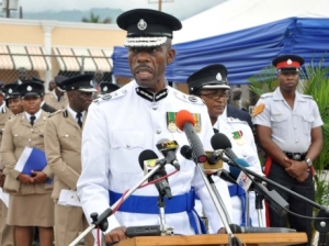 The new Commissioner of Police makes a speech. (Photo: Jermaine Barnaby/Gleaner)