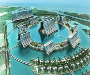 A picture of the planned Chinese mega-resort in Antigua.