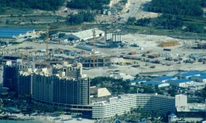 The huge Baha Mar construction in the Bahamas, two years ago.