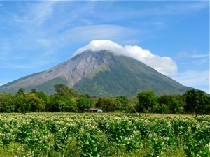 Concepcion Volcano, Ometepe Island, Nicaragua,  a UNESCO Biosphere Reserve threatened by a planned canal project. (Photo: retirenicaragua.wordpress.com)
