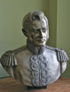 Who is this handsome man? Why, it's Bernardo O'Higgins, Chile's National Hero, who led the country to Independence from the Spanish.