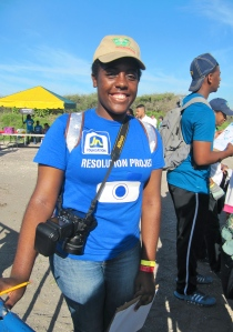 The energetic Naomi Redway was there, with a large team from the JN Foundation's Resolution Project. Note camera!