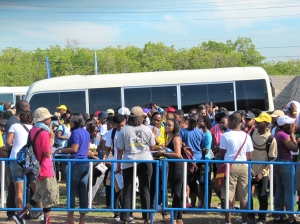 The University of the West Indies crowd. And yes, it was a large crowd!