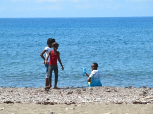 Taking a breather by the sea… The air was deliciously cool, and the water unusually calm.