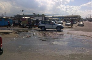 A sewage overflow in West Kingston last year. It's a regular thing. (Photo: Jamaica Observer)