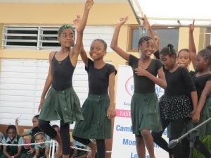 The exuberant dancers of St. Jago Prep.
