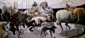 """Carousel"" by Phillip Thomas (central panel of triptych) - National Gallery of Jamaica."