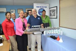 Food for the Poor donates medication and equipment to help fight the chikungunya virus to the Ministry of Health.
