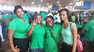 Members of G2K at the Jamaica Labour Party Annual Conference on Sunday. (Photo: Twitter)