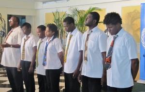 "Fabian Thomas' Tribe Sankofa perform a passionate piece - ""Nuh Guh Deh."""
