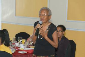 Human rights defender Yvonne McCalla Sobers says: Don't forget the seniors!  (Photo: J-FLAG)