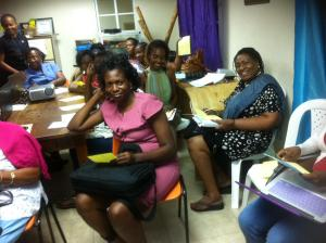 Women becoming empowered by social media training at WMW Jamaica with UN Women at WMW offices last week. They are all now tweeting madly! (Photo: Patricia Phillips/WMW Jamaica)