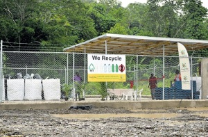 The recycling plant in Trinity, St Mary, which was officially launched on December 4. ({Photo: Jamaica Observer)