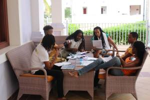 "It was a real ""work"" shop…One of the groups in a breakout session in Ocho Rios. (Photo: J-FLAG)"