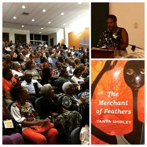 """The launch of Tanya Shirley's book of poetry """"The Merchant of Feathers,"""" published by Peepal Tree Press, at the University of the West Indies. (Photo: Facebook)"""