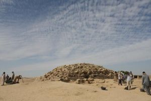 The remains of one of the oldest pyramids yet found - 4,600 years old.
