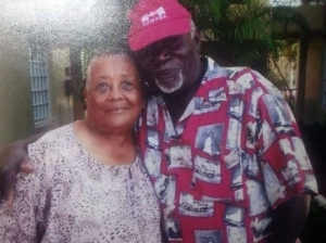 Former Matron at the Falmouth Hospital, Hyacinth Hayden who was stabbed to death in her home in Trelawny, seen in happier times with her husband Ashley. (Photo: Gleaner)