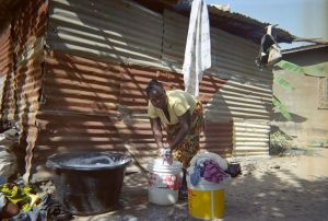 Wash day in the Gambia.