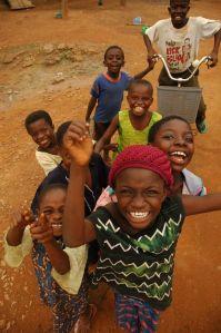 Children play in Lusaka, Zambia.