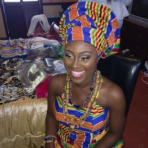 A traditional Ghana bride.