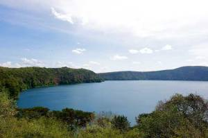 The beautiful peaceful Lake Chala, formed in a caldera (old volcano crater) on the border of Kenya and Tanzania. (Photo: Kenyan Facts/Twitter)