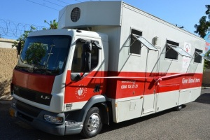 The new mobile blood collection unit handed over to the National Blood Transfusion Service. (Photo: Jamaica Observer)