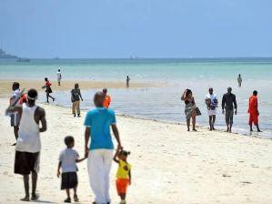 A day at the beach. Mombasa, Kenya.