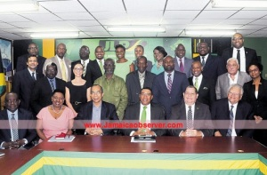 "The Opposition Jamaica Labour Party's new ""Shadow Cabinet."""
