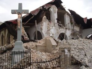 A church after the earthquake.