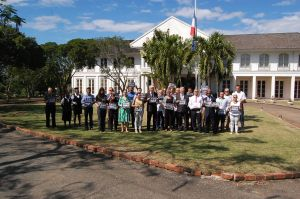 One minute's silence at the French Embassy in Jamaica on Wednesday, January 7th.