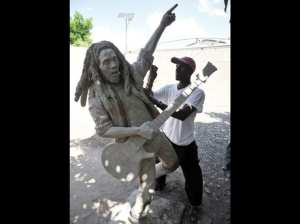 A new Marley statue to be set up in the Culture Yard on First Street. The old one will go up in the scruffy football field next to Trench Town Reading Centre, where Marley used to play. (Photo: Garfield Robinson/Gleaner)